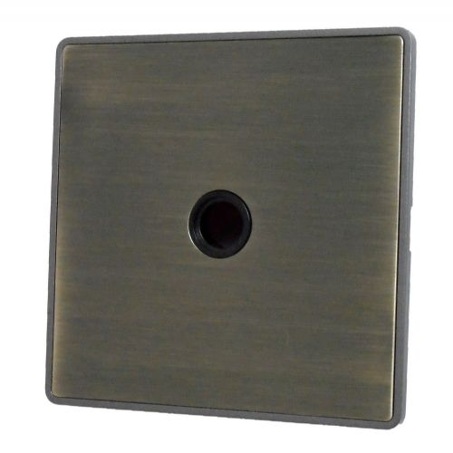 G&H LAB79B Screwless Antique Bronze 1 Gang Flex Outlet Plate